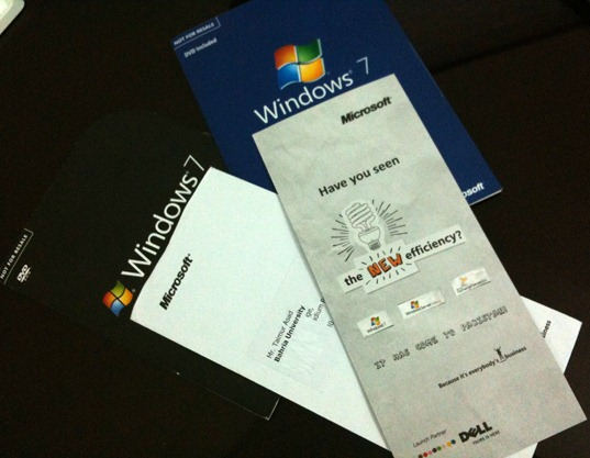 Invitation Card for The New Efficiency Windows 7 Launch Event
