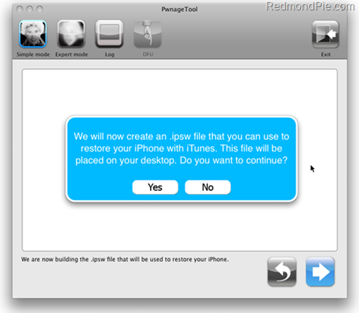 Jailbreak iPhone 3GS with PwnageTool 3.1