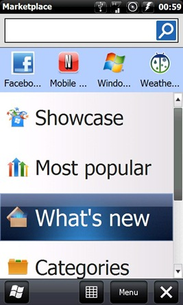 Windows Marketplace for Mobile on Windows Mobile 6.5