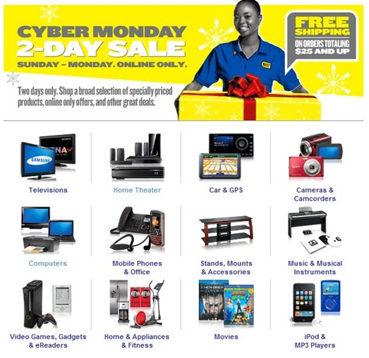 Cyber Monday Online Deals by Best Buy on HDTV, PlayStation 3