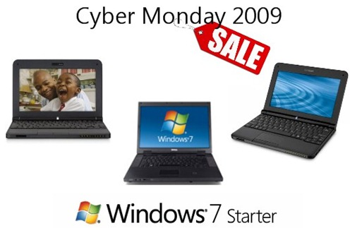 Cyber Monday 2009 Netbook
