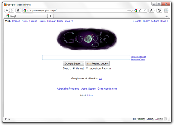 Google Doodle Shows Water on the Moon