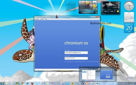 Chrome OS on Windows 7