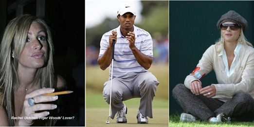 Rachel Uchitel, Tiger Woods and Elin Nordegren