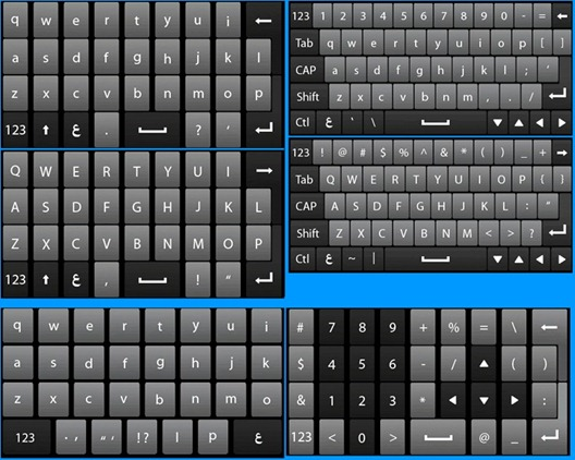 Windows Mobile 6.5.3 Keyboard
