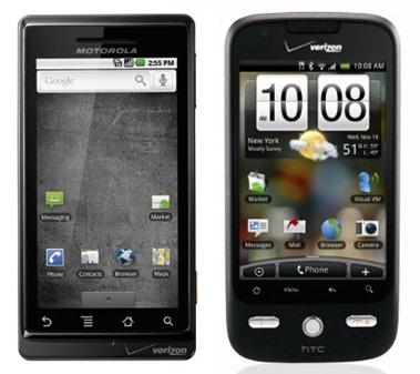 Motorola Droid vs HTC Droid Eris