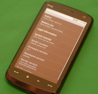 Android 2.0.1 on HTC Windows Mobile Phone