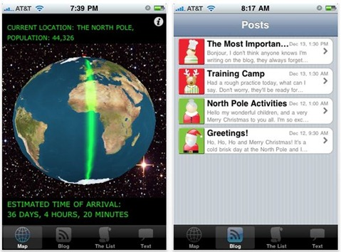 Santa Tracker 2009 for iPhone