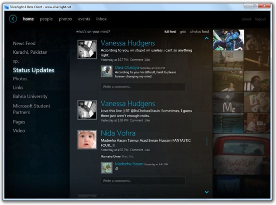 Facebook - Silverlight 4 Beta Client