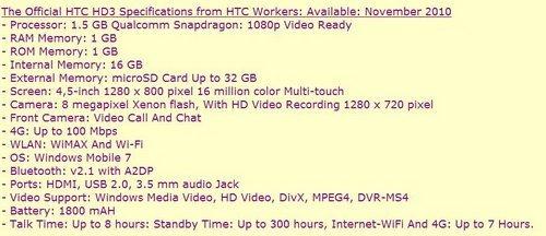 HTC HD3