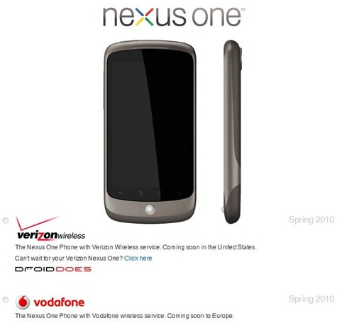 Nexus One Verizon
