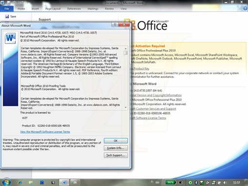 Office 2010 RTM Build 14.0.4730.1007