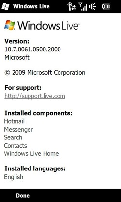 Windows Live for Windows Phone