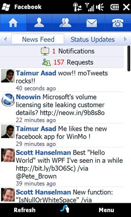 Facebook 1.1 for Windows Mobile