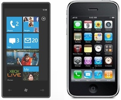Windows Phone 7 vs iPhone