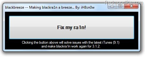 BlackBreeze - Blackra1n fix for iTunes 9.1