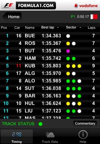 Formula 1 2010 App
