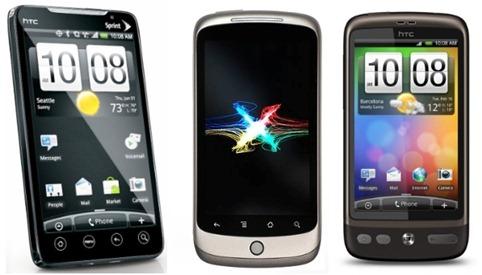 HTC EVO 4G vs Nexus One vs Desire
