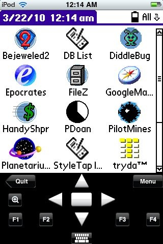 Palm OS on iPhone