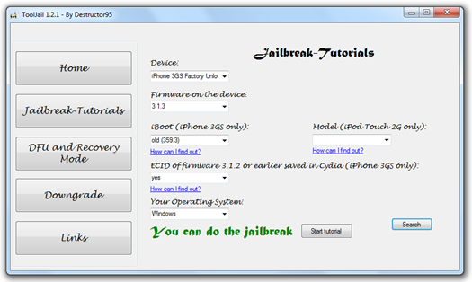 ToolJail for iPhone 3.1.3