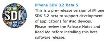 iPhone 3.2 SDK for iPad