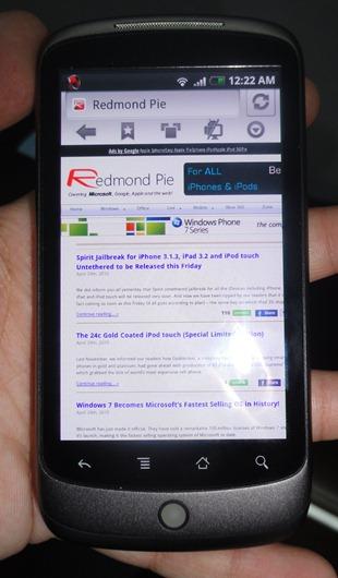 Skyfire on Nexus One