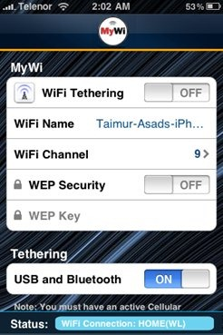 Tether iPhone with iPad (1)