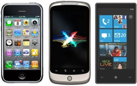 iPhone 4 vs Android vs WP7