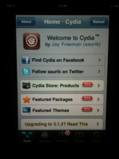 Cydia on iPad