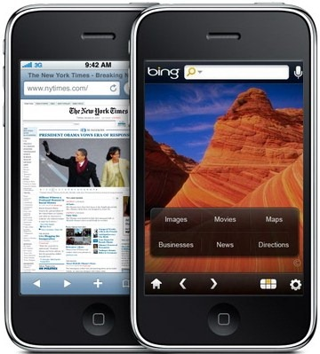 Bing iPhone