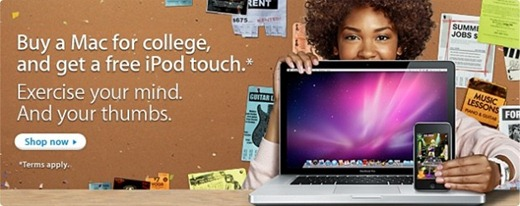 Buy Mac and Get free iPod touch