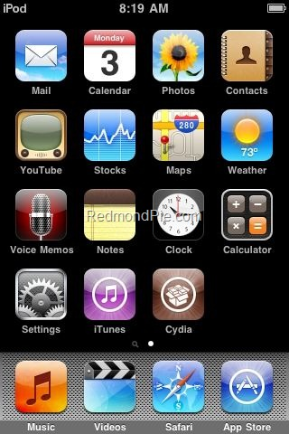Jailbreak iPod touch 3G with Spirit