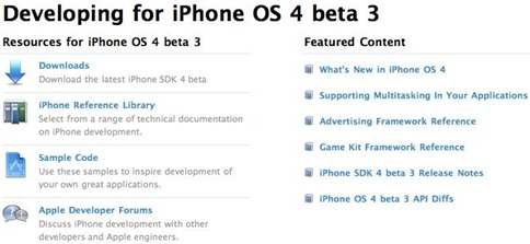 iPhone OS 4 Beta 3