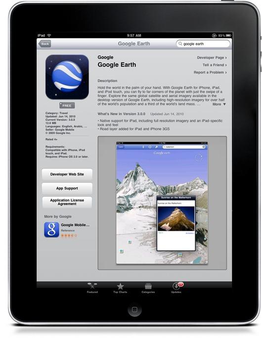 Google Earth for iPad