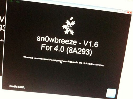 Sn0wbreeze 1.6 for iOS 4