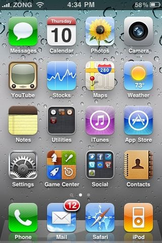 Game Center on iPhone 3GS iOS 4