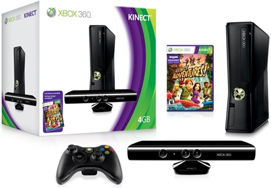 New Xbox 360 with Kinect Bundle
