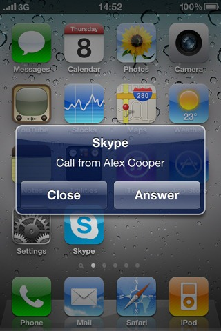 Skype for iOS 4
