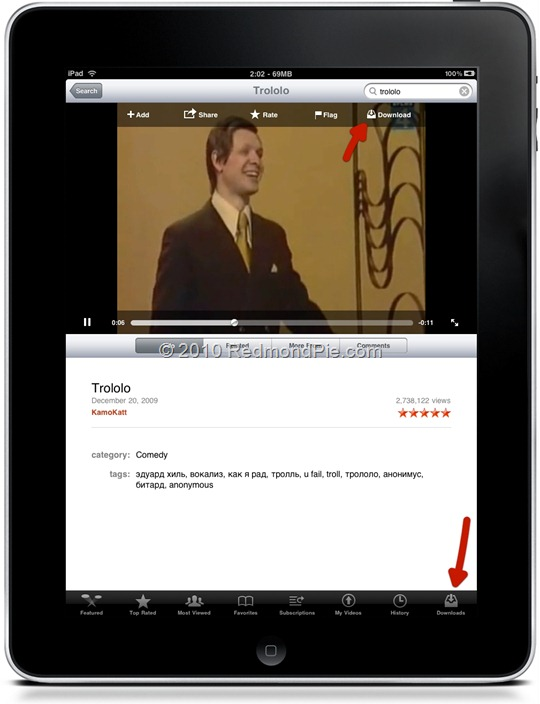 YourTube HD for iPad