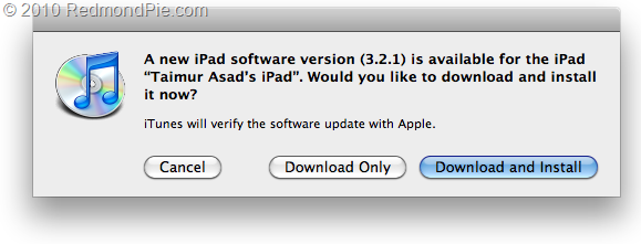 iOS 3.2.1 for iPad