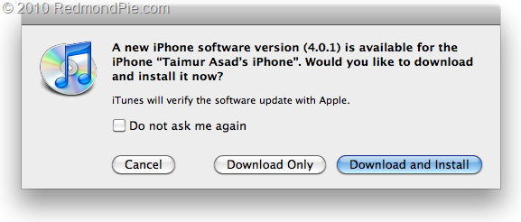 iOS 4.0.1 for iPhone 4, 3GS, 3G