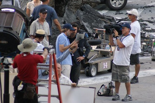 iPad on the sets of Transformers 3
