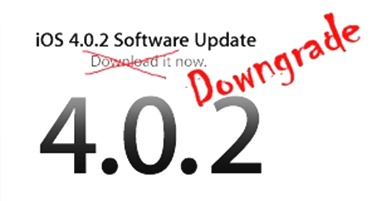 Downgrade iOS 4.0.2