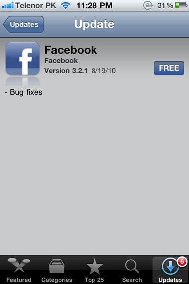 Facebook for iPhone 3.2.1