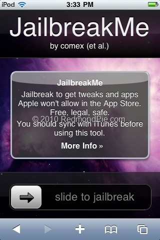 Jailbreak iPod touch JailbreakMe (1)