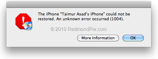 iphone could not be restored an unknown error occurred 1015