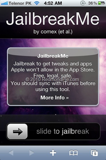 iPhone 4 JailbreaMe 2.0 Star (1)