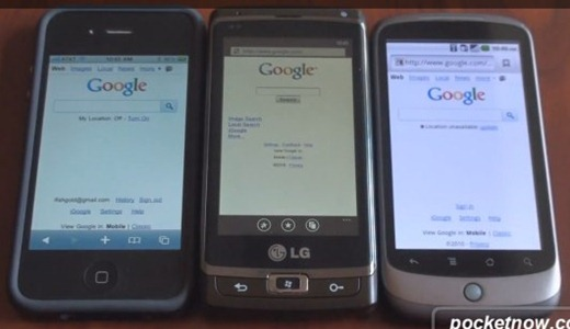 iPhone 4 vs WP7 vs Nexus One