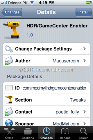 Game Center on iPhone 3G