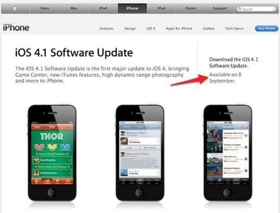 iOS 4.1 Download